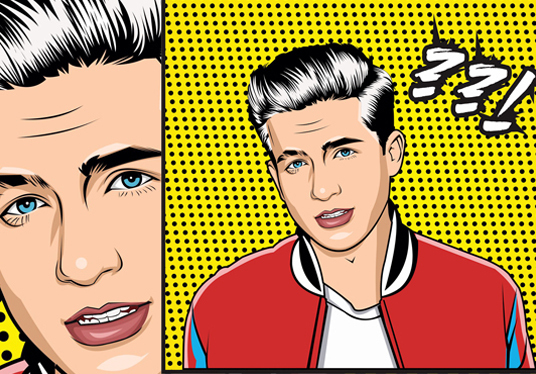 I will redraw your pic into cartoon pop art