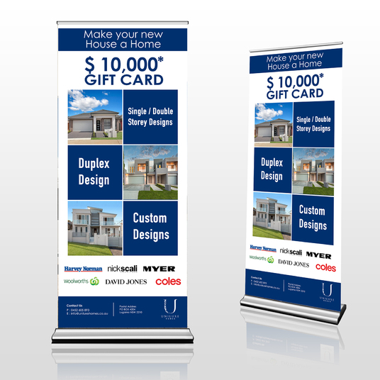 I will do a roll-up, retractable or pullup banner design