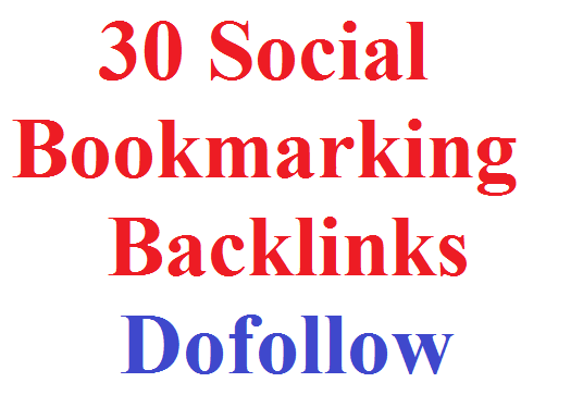 I will create 30  Social Bookmarking Backlinks