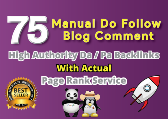 I will Do 75 Manual Do Follow Blog Comment