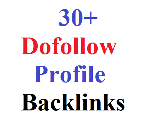 I will give you 30 Profile Backlinks for your website