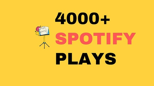 I will give you 4000+ spotify plays and followers