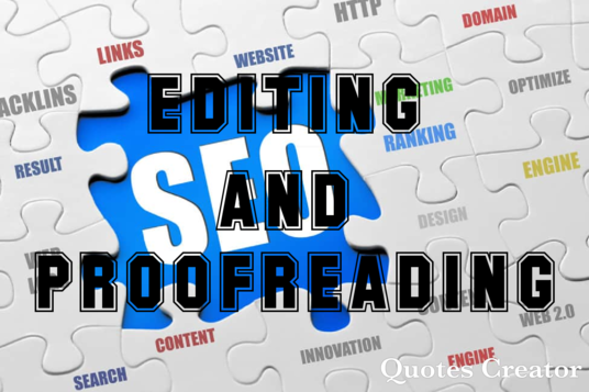 I will edit, proofread and rewrite content on any topic or subject 1000 words