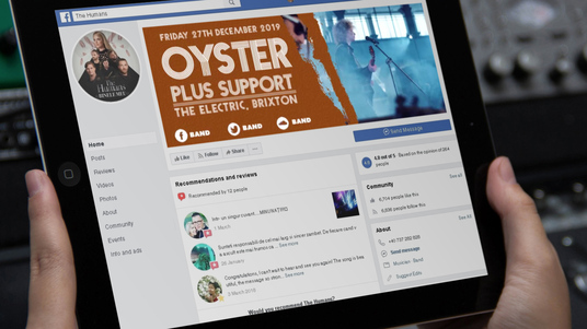 make a Facebook video header for bands and musicians