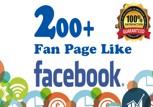 I will Give You Genuine 200  Fan Page Likes