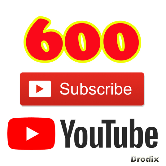 I will Add for You 600 Real YouTube Subscribers Non Drop