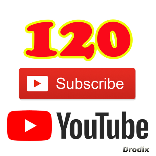 I will Add for You 120 Real YouTube Subscribers Non Drop