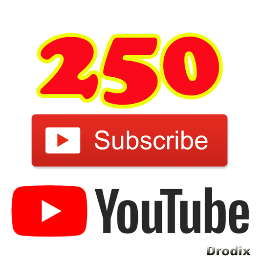 I will Add for You 250 Real YouTube Subscribers Non Drop