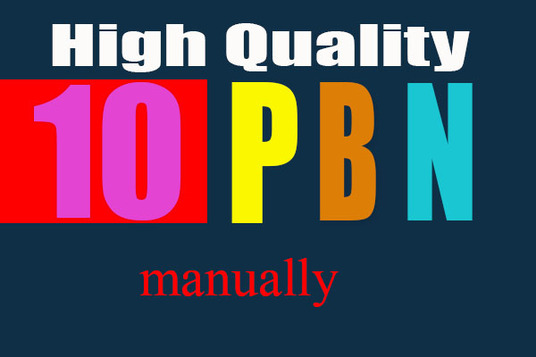 I will Create 10 High Quality Homepage PBN Backlinks