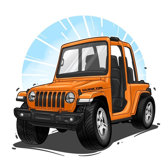 I will draw your car vehicle into funny and simple caricature cartoon style