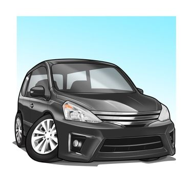 draw your car vehicle into simple cartoon style