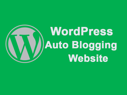 I will create an auto blogging WordPress website