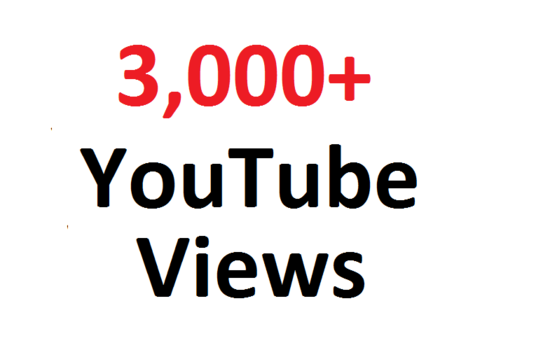 I will Provide 3000 Youtube Views For promoting your business by video Marketing