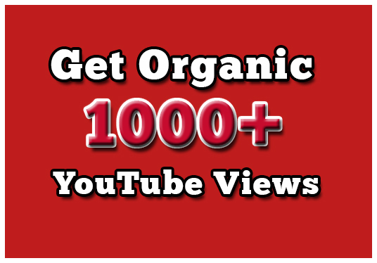 I will Give You 1000+ Organic YouTube Views