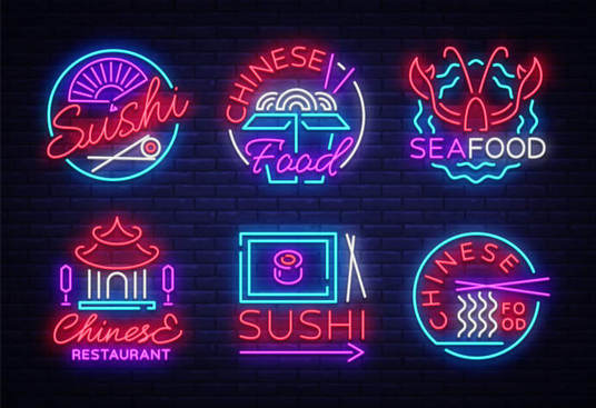 I will Design 2 Neon Logos In 24 Hours