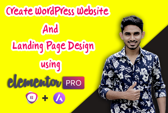 I will Create a perfect  wordpress website  using elementor pro page builder