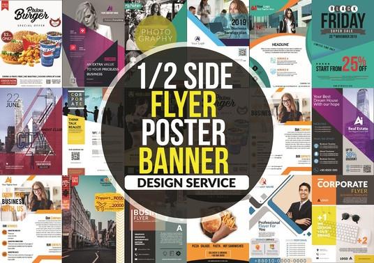 I will design  print ready Flyer,Poster and Banner