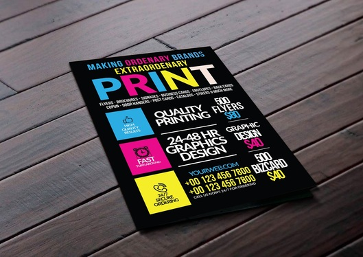 design  print ready Flyer,Poster and Banner