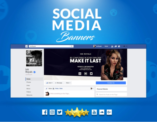 I will Design Attractive Facebook Cover And Social Media Banner