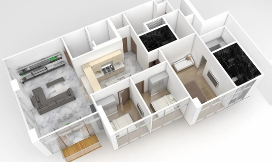 I will Make A 3d Model Of Your Floorplan