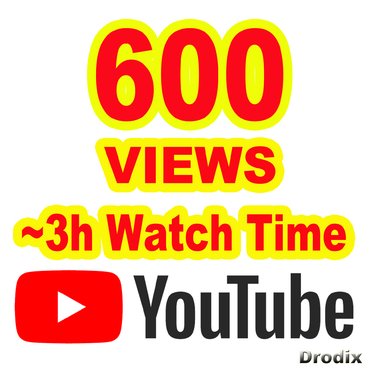 provide 600 Views YouTube Non Drop
