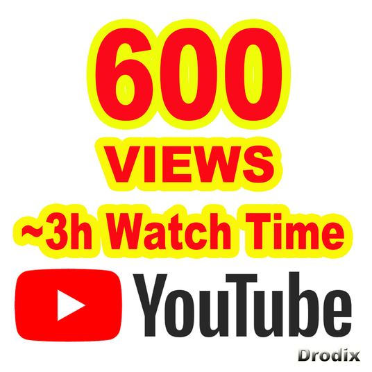 I will provide 600 Views YouTube Non Drop