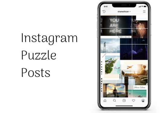 design your Instagram feed with puzzle theme
