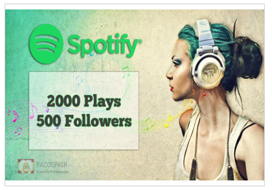 I will add 500+ Spotify followers and 4000+ Spotify Plays