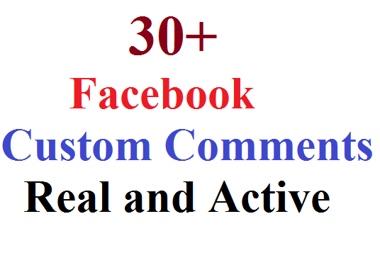 I will create 30 Facebook Custom Comment