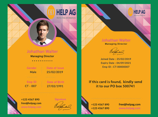 create a customized Brand Identity or ID card for your Business