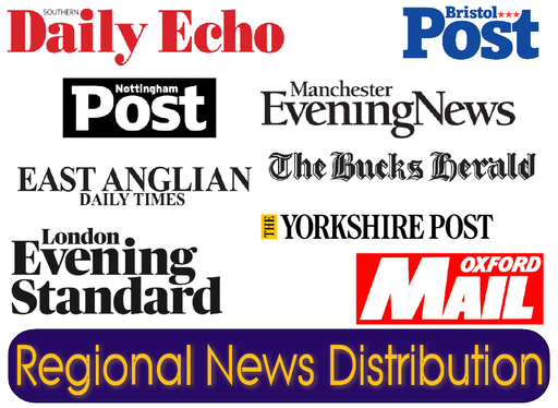distribute your Press Release to every major REGIONAL newspaper throughout the UK