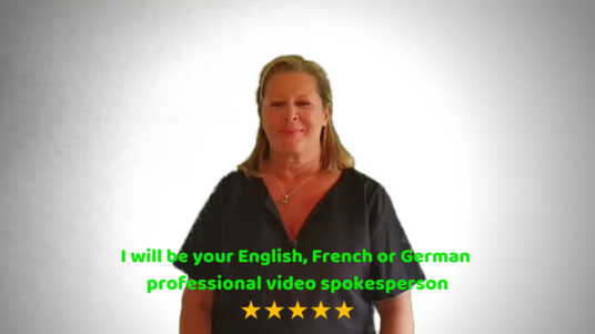 make a natural video review  or video presentation in English, French or German