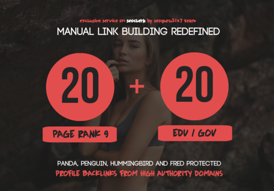 I will Do 20 Pr9 + 20 Edu - Gov High Pr SEO Authority Backlinks - Fire Your Google Ranking