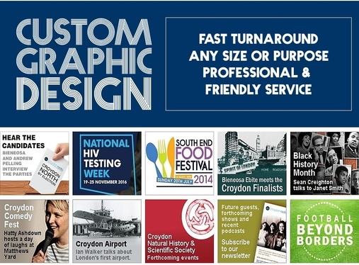 create a stylish banner graphic at any size and for any purpose
