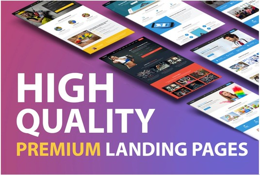 I will create wordpress landing page or html landing page