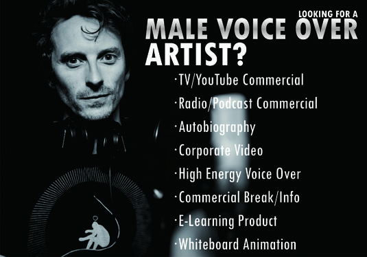 Record One Minute Professional English Male Voice Over