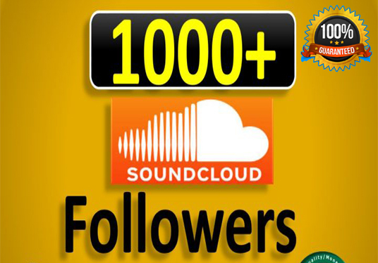 I will Provide 1000+ Sound cloud followers