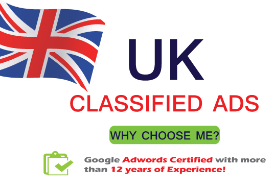 I will Post your Ads on 20 Best UK Classified Sites