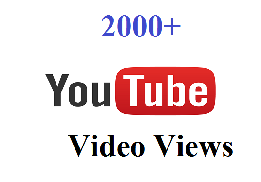 I will Give you Non Drop 2000 YouTube Video Views