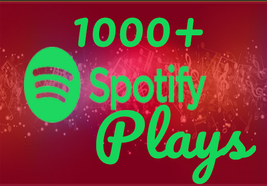 I will Provide 1000+  Spotify Real Plays