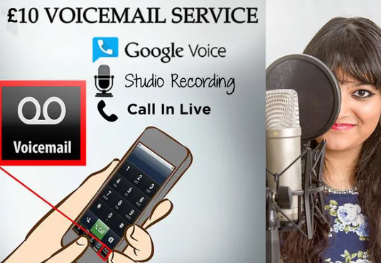 I will record American Female Voicemail, IVR Phone Prompts, Or Google Voice