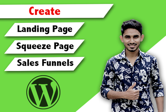 create high converting  WordPress landing page or sales funnel