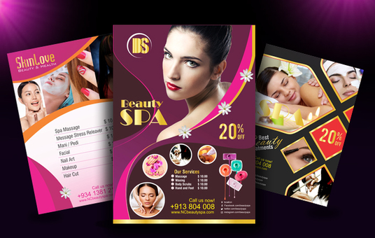 I will create Beauty Salon, SPA Menu, Hair Style flyer, poster or brochure