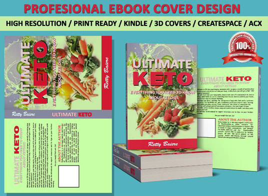 I will create an awesome book cover and book cover design for ebook or Amazon kindle with 3D mock