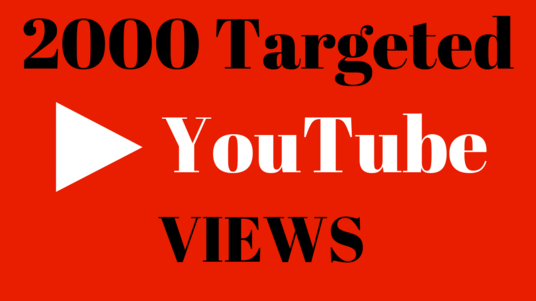 I will Provide you 2000 Targeted views