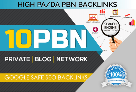 I will Create 10 Permanent PBN High Metrics Contextual Backlinks