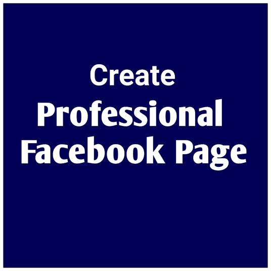 I will create professional Facebook page for you