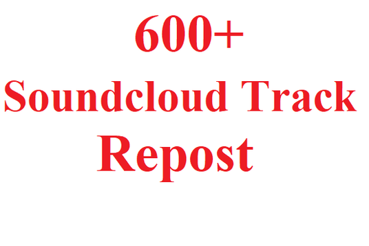 I will give you 600 Soundcloud Non Drop track or song  repost