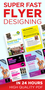 design a professional flyer or leaflet