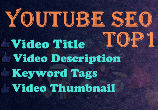 I will Do Youtube SEO For Improving Video Ranking